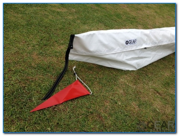 Surfski PVC Bag red flag - Surk-Ski Cover - SGL - PVC